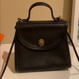 Coach classic top handled back handbag